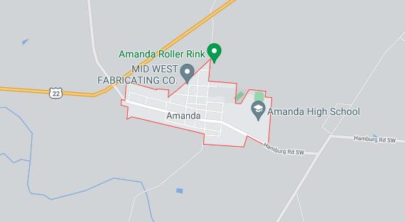 amanda ohio map location